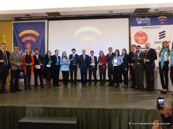 Ganadores Premio Colombia en Línea 2012