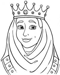 Rey y reina para colorear - Imagui