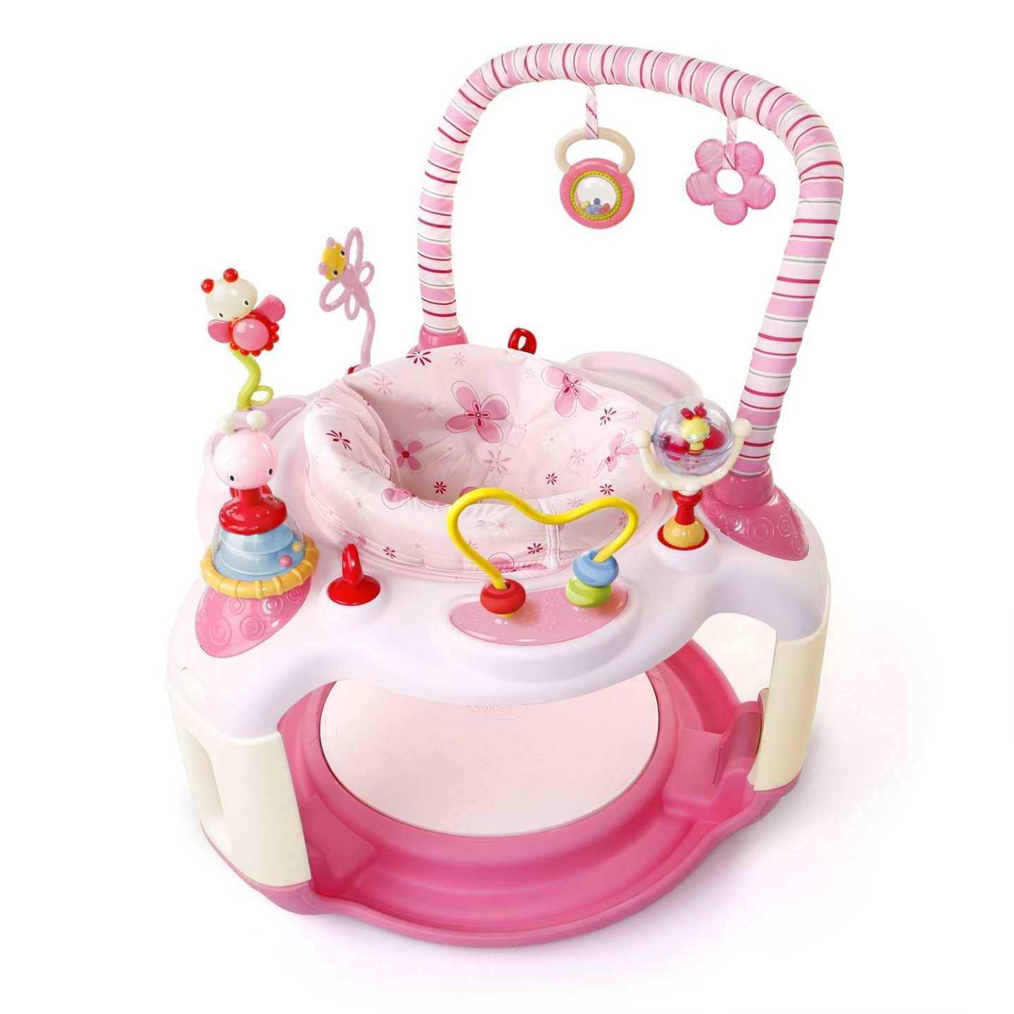 Bright Starts Pink Bounce-A-Bout Baby Activity Center ...