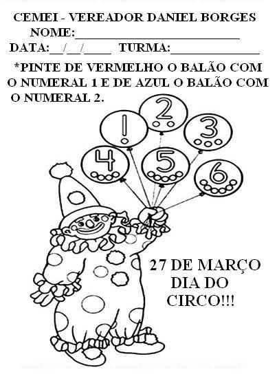 MISTURA DE IDEIAS: Dia do Circo