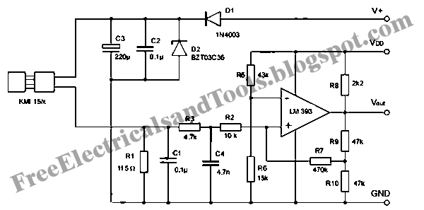 Free Schematic Diagram: Signal Conditioning Circuit for