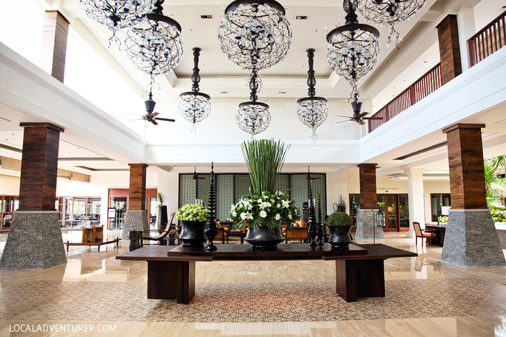 The St Regis Bali Resort Lobby in Nusa Dua.
