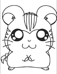 Pinto Dibujos: Tigrilla de Hamtaro para colorear
