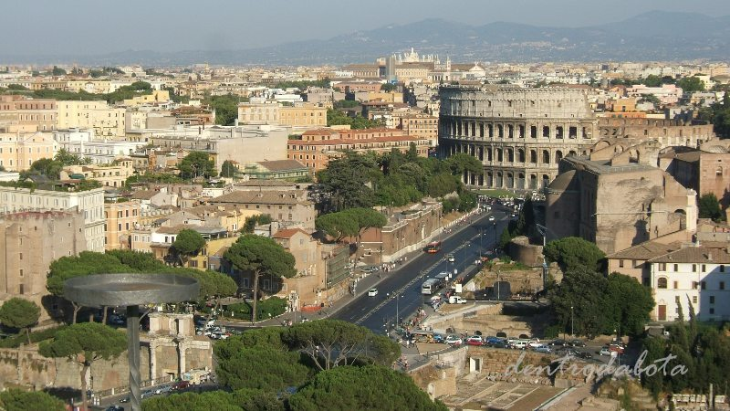 Dentro da Bota Roma  Vista Panormica