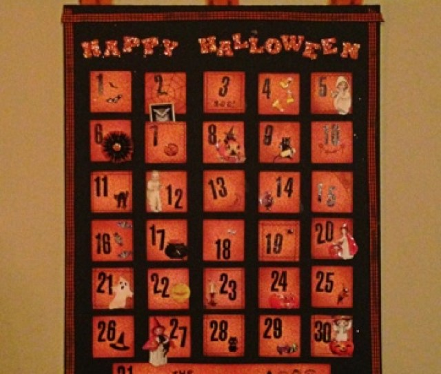 I Wanted To Share A Project I Created For The Crafty Secrets September Linky Party I Decided To Make A Halloween Advent Calendar For The Kiddos To Enjoy