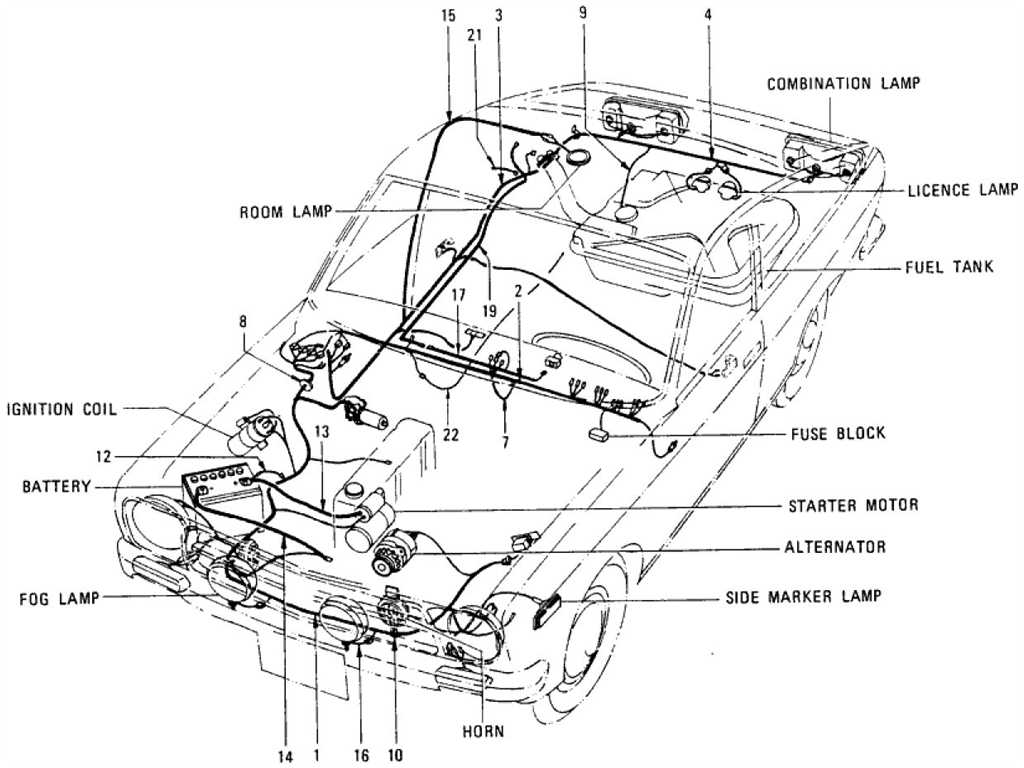 Datsun 1200 Wiring