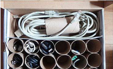 Idea para ordenar los cables.