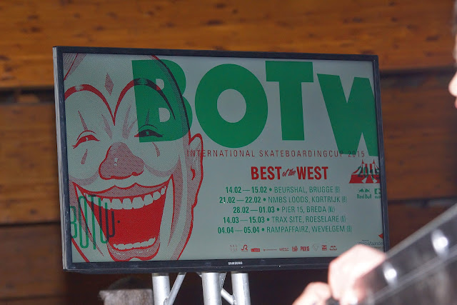 affiche The Best of the West skateboarding in Trax Roeselare