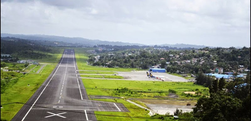 Port-Blair runway as seen from Jogger's Park
