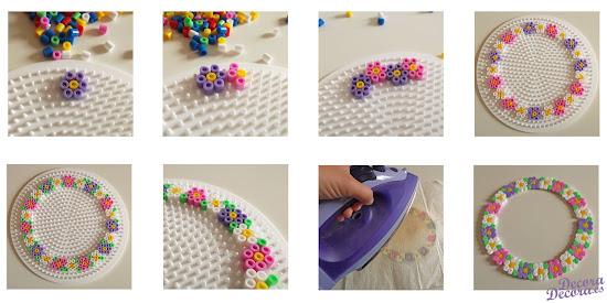 Corona de verano hama beads.