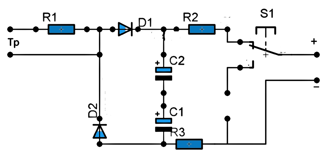 circuit diagram of capacitor tester