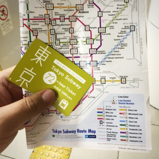 japan tokyo subway 1 day pass ticket
