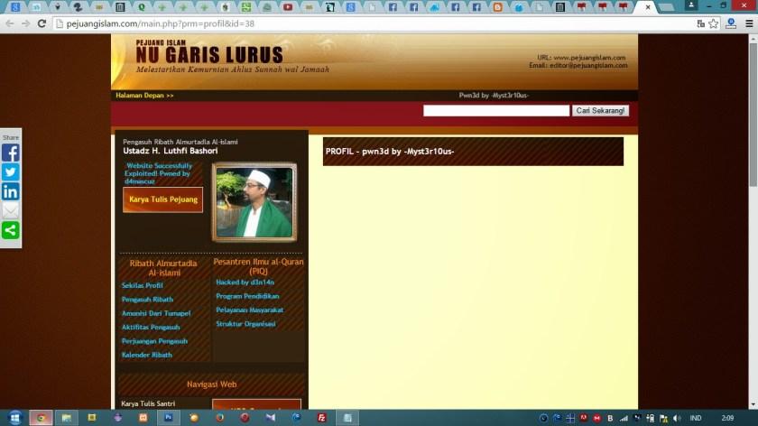 Halaman Profil Biograsi Pejuang Islam