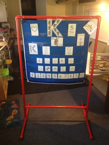 Learning In Grace DIY Pocket Chart Stand using PVC
