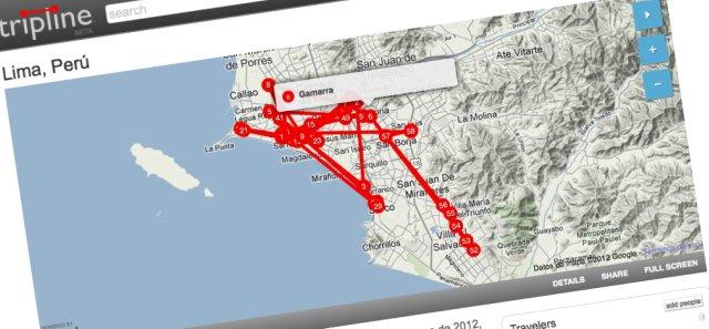 Un ejemplo de cómo crear un mapa a partir de un recorrido por una ciudad