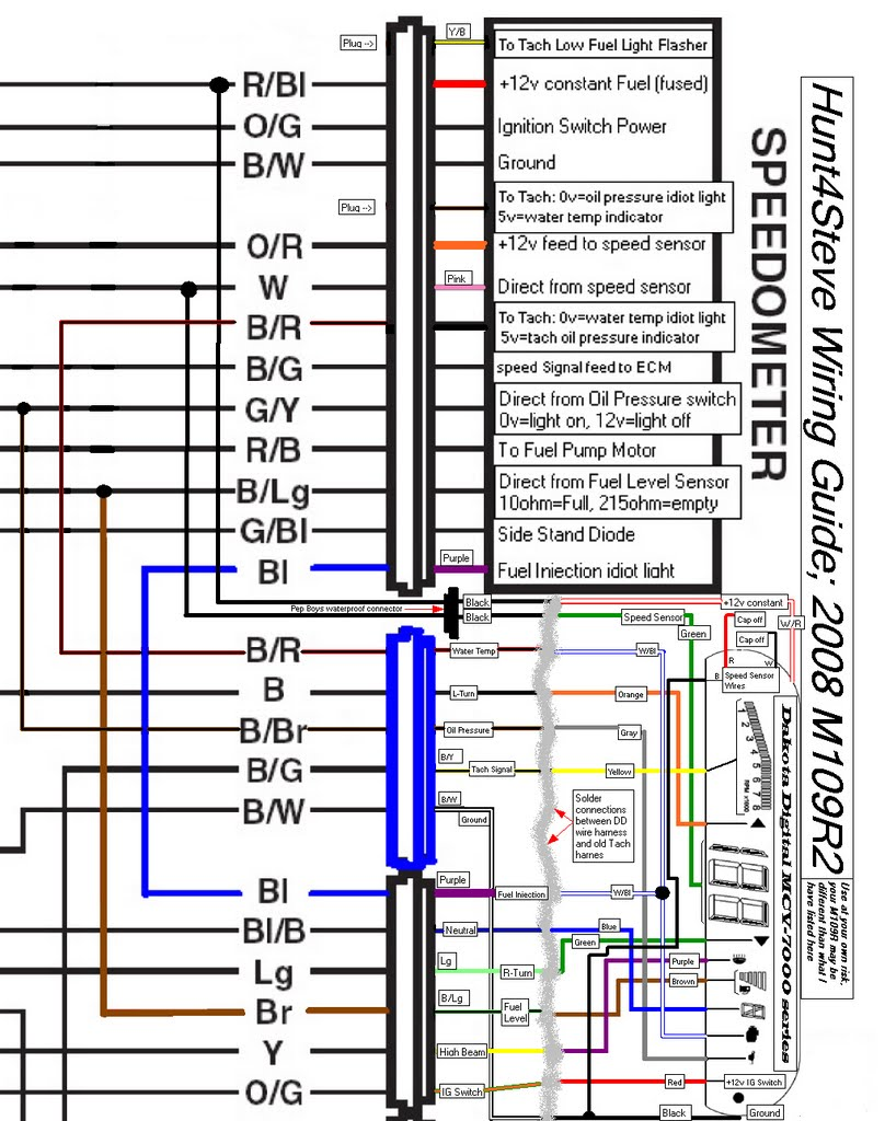 medium resolution of modified schematic with the installation of the dakota digital mcv 7200