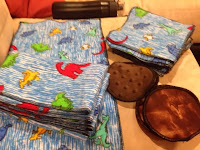 burp clothes, cloth baby wipes, and nursing pads as baby shower gifts