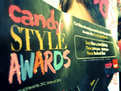 Candy Style Awards 2012 - Rockwell Tent, Makati City - May 4, 2012 - Candy Style Awards Event Pass