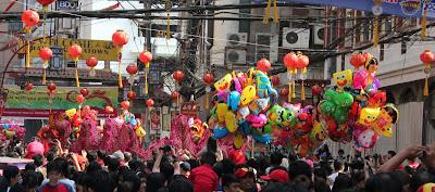 The colorful crowd scene