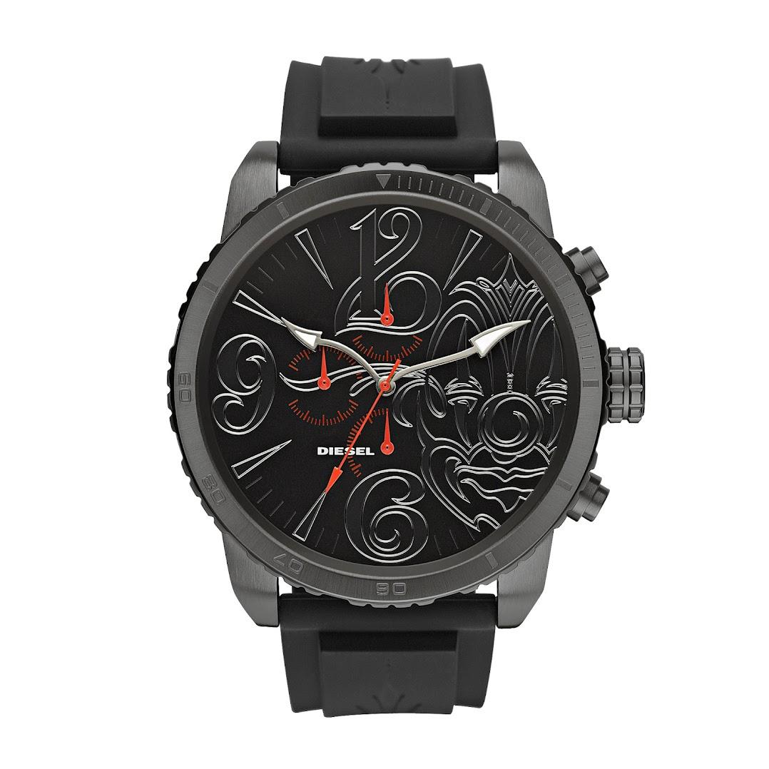 *LA 刺青大師驚艷之作:「Mr. CARTOON x DIESEL聯名」限量腕錶 2