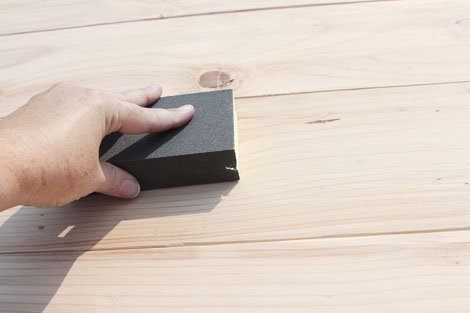 Staining 2×4 Lumber