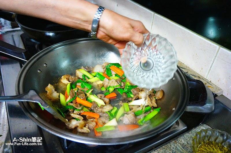 蒜苗炒鹹豬肉-3