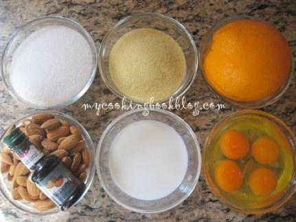 Торта (или сладкиш) с Бадеми и пюре от Портокал
