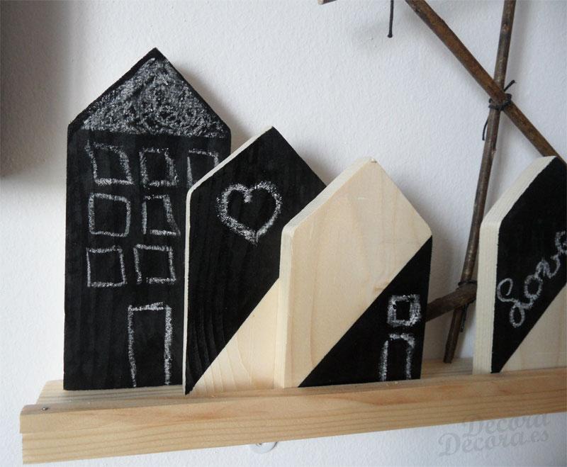 Pintura pizarra para decorar las casitas de madera - Pintura tipo pizarra ...