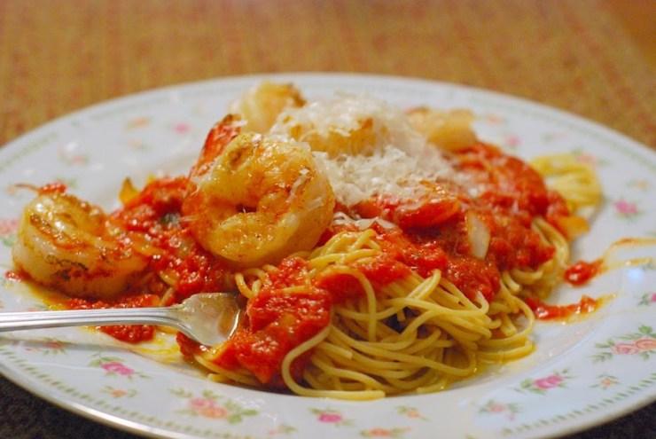 Shrimp Marinara