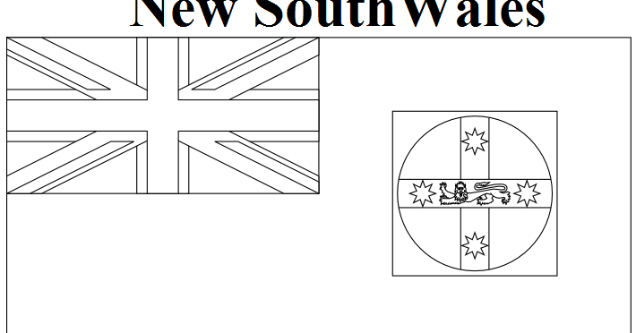 Geography Blog: New South Wales Flag Coloring Page