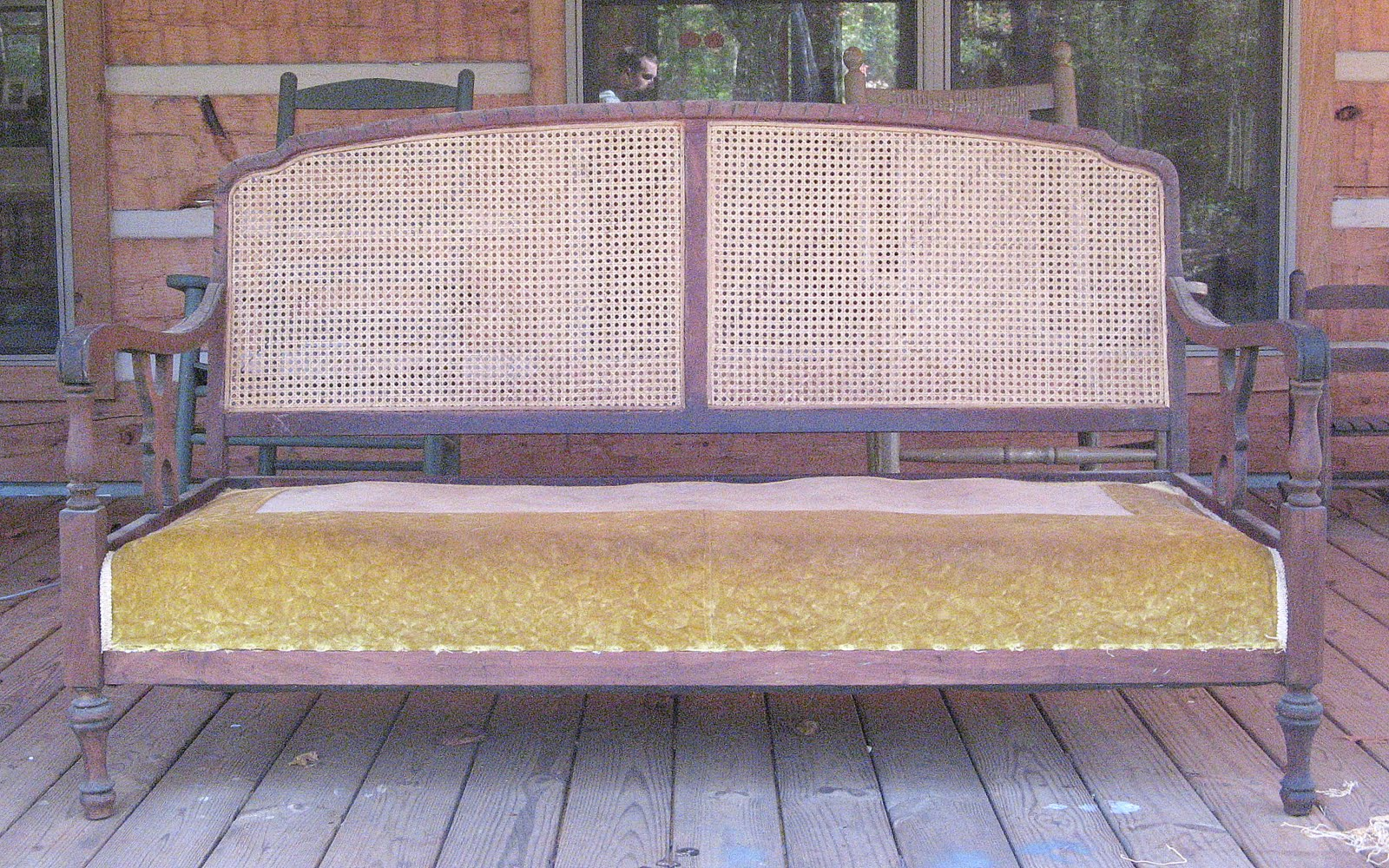 1930 cane back sofa home theater seating reclining sofas carolina country living before and after