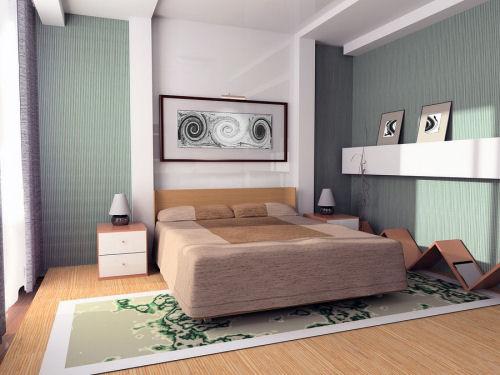Sade anlamda güzel bir yatak odası örneği