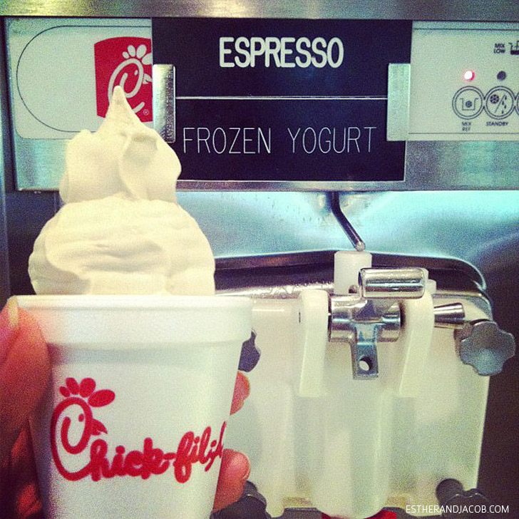 Expresso Frozen Yogurt only at Chickfila Headquarters.