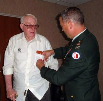 Grandpa Receives His WWII Awards