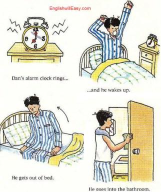 اولین چیزی که در صبح است - دیکشنری انگلیسی انگلیسی برای فعالیت های روزمره