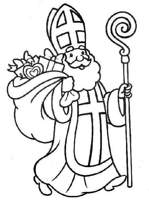 Ausmalbilder Malvorlagen: Saint Nicholas coloring pages