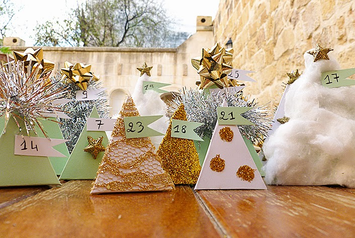 Loisirs créatifs : un joli calendrier de l'avent pour Noël.