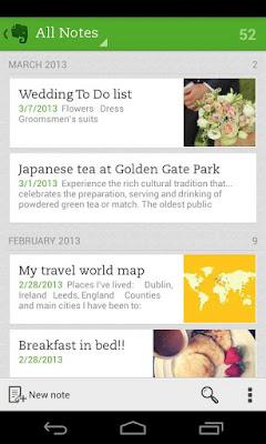 *為廣受好評的雲端記事本:Evernote (Android App) 2