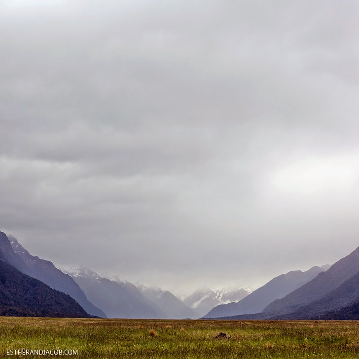 Mountain Range at Fiordland National Park New Zealand   Day 5 New Zealand Sweet as South Contiki Tour.