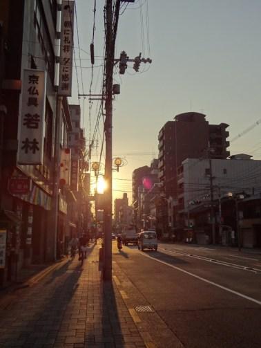 Sunset on a Kyoto street