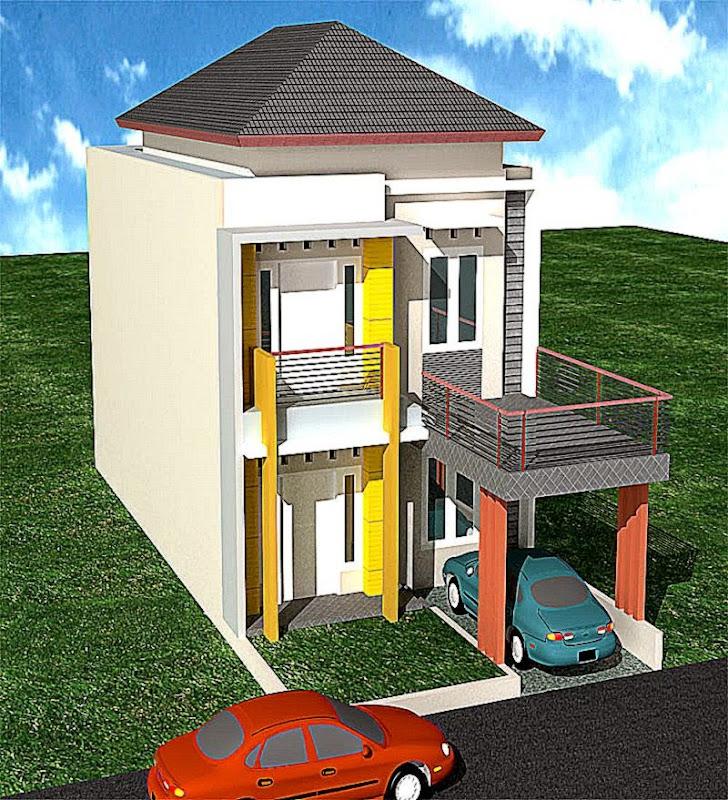 Desain Rumah Tingkat  Gallery Taman Minimalis