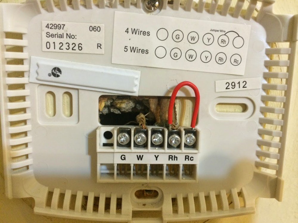 medium resolution of home a c thermostat wiring diagram