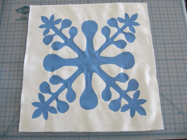 "Laurie'-projects ""hawaiian Quilt"" Stencil Pillow"