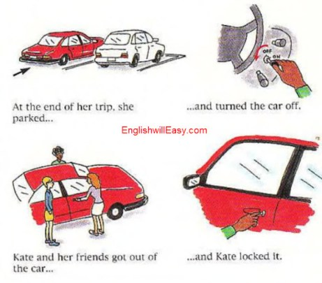 Driving along English Picture Dictionary for Everyday Activities
