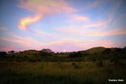 Sunset over the Hluhluwe Hills