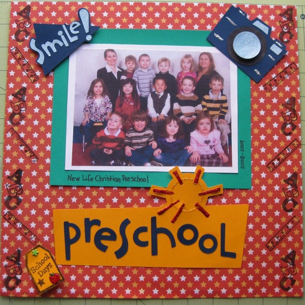 Preschool Scrapbook Page Ideas