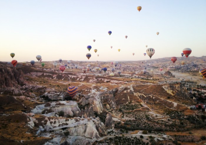 Cappadocia from a hot air balloon