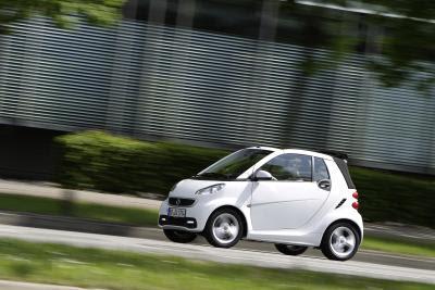 smart fortwo 2012 cabrio. Photo credit Mercedes-Benz