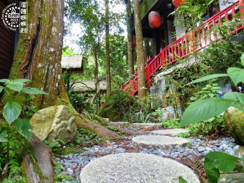妖怪村內保留了許多森林的原始樣貌