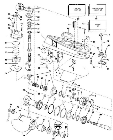 Anode and motor trim tab question for 1988 johnson 200